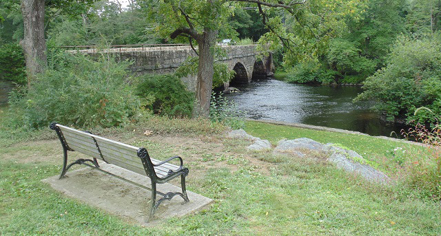 Bench at South Natick Dam