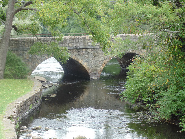 A bridge near South Natick Dam