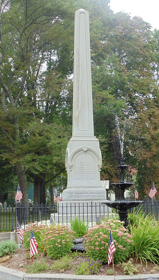 Fountain and memorial in downtown Westborough/Photo by Douglas Flynn