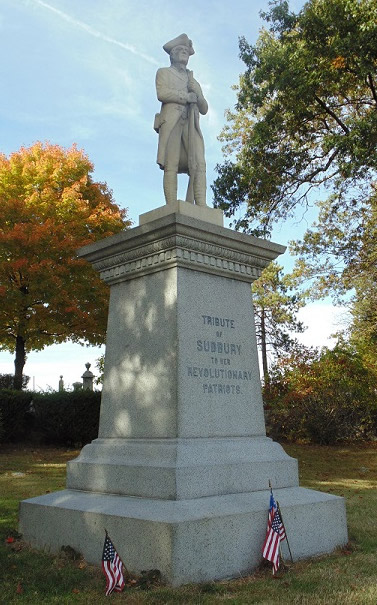 Statue saluting Sudbury's contributions to the colonists' efforts in the Revolutionary War /Photo by Douglas Flynn